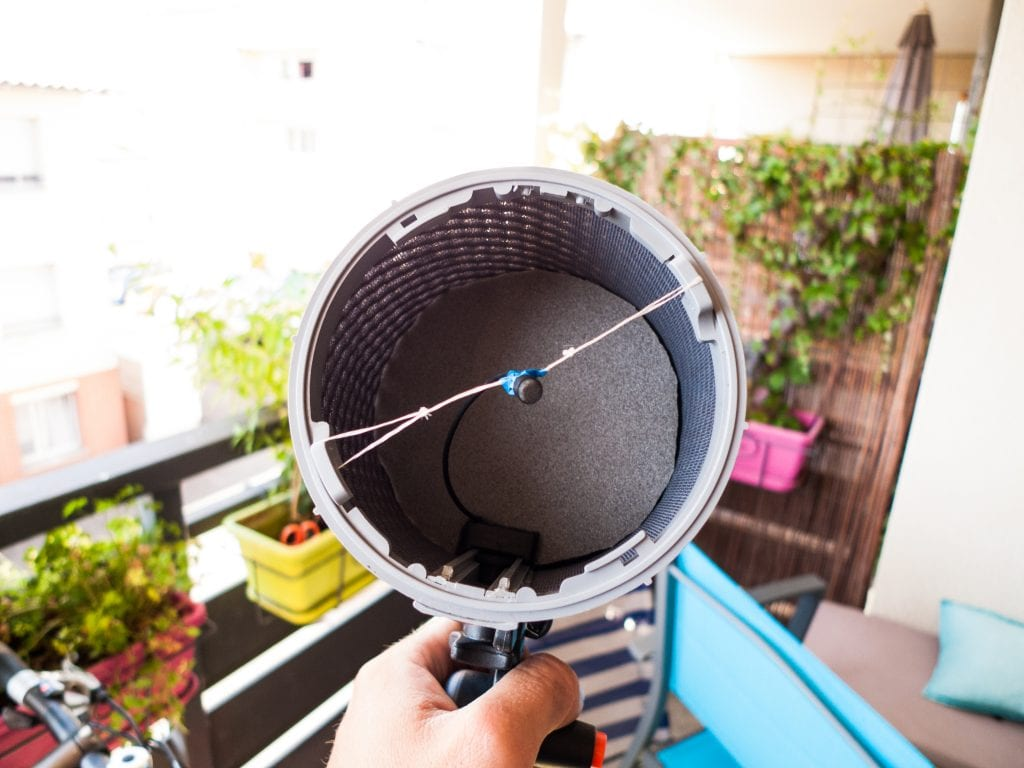 DPA 4060 lavaliers suspended in a Rycote WS1 Blimp